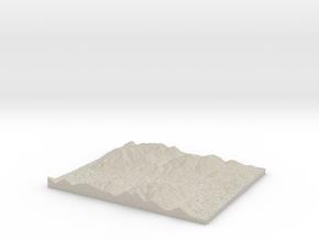 Model of Five Mile Creek in Natural Sandstone