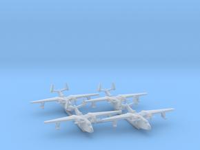 4pk Martin PBM5 Mariner seaplane bomber 1:600 WW2 in Smooth Fine Detail Plastic