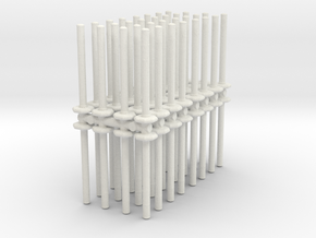 Traffic Pylon (x64) 1/72 in White Natural Versatile Plastic