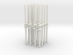 Traffic Pylon (x32) 1/56 in White Natural Versatile Plastic