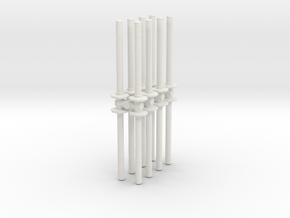Traffic Pylon (x16) 1/43 in White Natural Versatile Plastic