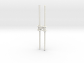 Traffic Pylon (x4) 1/24 in White Natural Versatile Plastic