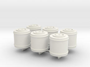 Space 1999 Canisters for Dinky Pallet Pod (6x on s in White Natural Versatile Plastic
