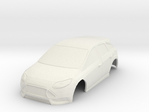 12 Ford Focus ST MiniZ 94mm in White Natural Versatile Plastic