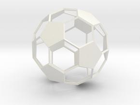 Soccer Ball - wireframe - 2 in White Natural Versatile Plastic