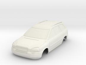 Volvo XC90 MiniZ 98mm in White Natural Versatile Plastic