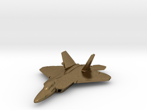 F-22 Raptor (large) in Natural Bronze