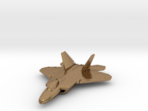 F-22 Raptor (small) in Natural Brass