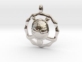 TURTLE TOTEM Jewelry Symbol Pendant in Platinum