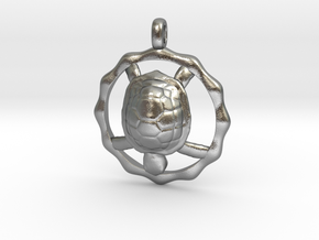 TURTLE TOTEM Jewelry Symbol Pendant in Natural Silver