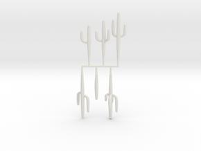 Z Scale Saguaro Collection 01 in White Natural Versatile Plastic