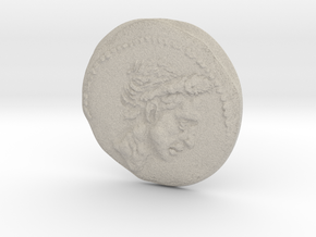 Ancient Roman Coin in Natural Sandstone