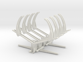 4 lots 1- 100th scale davit support assemblys in White Natural Versatile Plastic