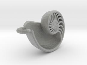 Nautilus Pendant in Metallic Plastic