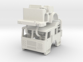 1/87 Seagrave Marauder II cab Raised Roof Updated in White Natural Versatile Plastic