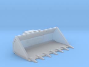1/64th Skid Steer 7' wide bucket w teeth in Smooth Fine Detail Plastic