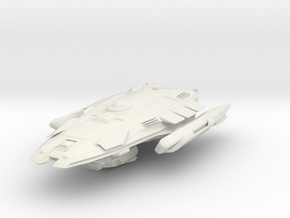 Federation Balaur Class Science/Scout ship in White Natural Versatile Plastic