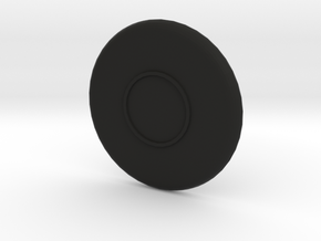 Ripple cup plate in Black Natural Versatile Plastic: 1:8