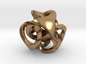 Ora Pendant (smaller) in Natural Brass