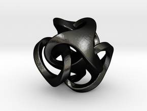 Ora Pendant (smaller) in Matte Black Steel
