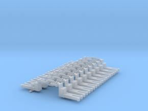 NEM OO Type 15 Couplings - Big-Step Up 3 Link x10 in Smooth Fine Detail Plastic