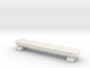 1/87 KME Tiller Lightbar  in White Natural Versatile Plastic