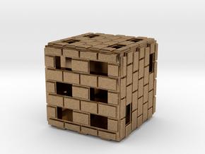 Brick Die in Natural Brass