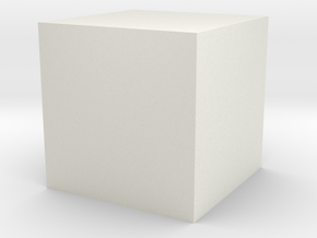 cube 1 cm in Clothing in White Natural Versatile Plastic: 1.75 / -
