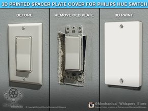 Philips Hue Dimmer Switch Blank Plate (US Decora) in White Natural Versatile Plastic