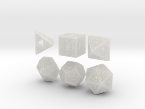 Fractal Dice in Smooth Fine Detail Plastic