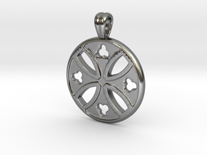 Antique cross [pendant] in Polished Silver