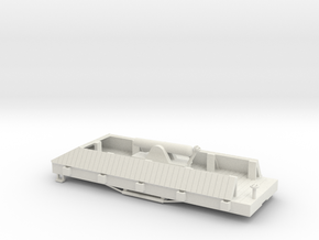 S USMRR ARMORED FLATCAR in White Natural Versatile Plastic
