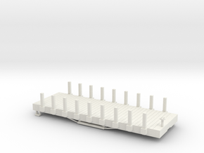 S USMRR FLATCAR 9 STAKE in White Natural Versatile Plastic