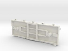 S USMRR FLATCAR 5 in White Natural Versatile Plastic