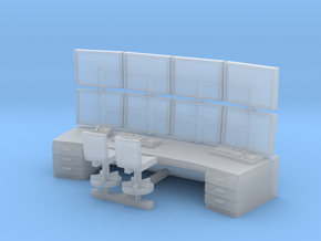 1:100 Control Center Workstation in Smooth Fine Detail Plastic