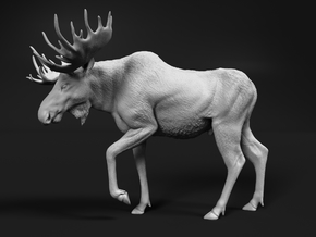 Moose 1:19 Walking Male in White Natural Versatile Plastic