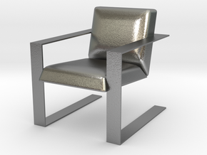 Miniature Luxurious Modern Accent Chair in Natural Silver