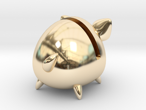 Micro Piggy Bank (Small) in 14K Yellow Gold