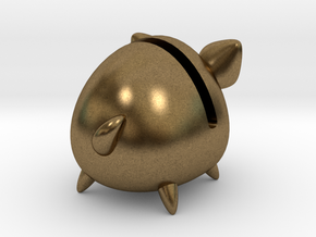 Micro Piggy Bank (Small) in Natural Bronze