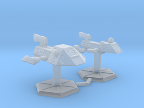 7000 Scale Kzinti War Destroyer and Frigate SRZ in Smooth Fine Detail Plastic