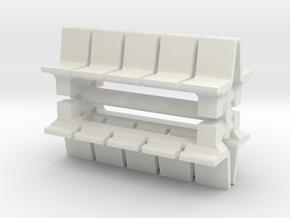 Platform Seats (x4) 1/87 in White Natural Versatile Plastic