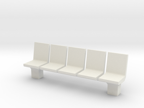 Platform Seats 1/48 in White Natural Versatile Plastic