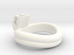 Cherry Keeper Ring - 47x42mm Double -4° (~44.5mm) in White Processed Versatile Plastic