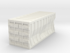Damaged 20ft Container 1.100 in White Natural Versatile Plastic