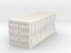 Damaged 20ft Container 1/76 in White Natural Versatile Plastic
