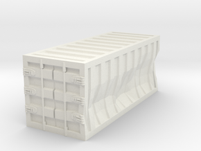 Damaged 20ft Container 1/56 in White Natural Versatile Plastic