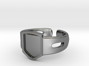 Signet Ring Blank 19mm in Fine Detail Polished Silver
