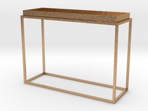 Miniature Tray Top Console Table in Natural Bronze