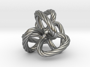 Dodecahedron quadroloop in Natural Silver