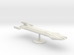 2500 Scale Hydran Lord Marshal Command Cruiser CVN in White Natural Versatile Plastic
